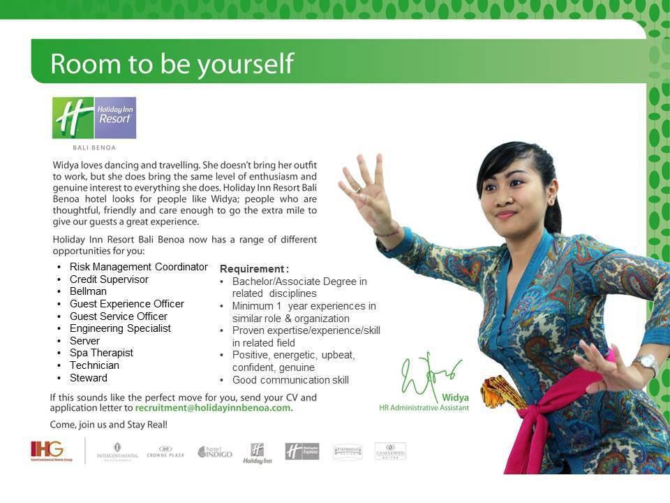 Lowongan Pekerjaan Semua Posisi Holiday Inn Bali