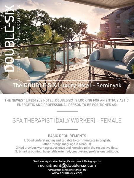 Lowongan Spa Therapist DOUBLE-SIX Luxury Hotel Seminyak