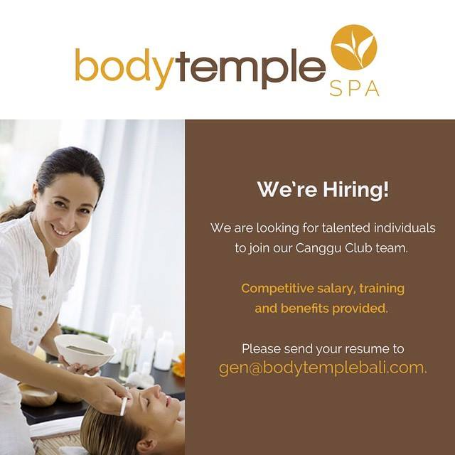 Lowongan Spa Therapist dan Spa Manager Body Temple Spa