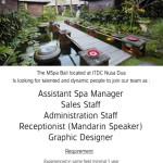 Lowongan Asistant Spa Manager dan Reception Mspa Bali