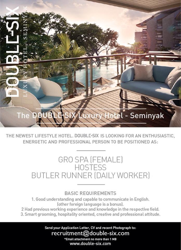 Lowongan Spa Therapist The Double Six Luxury Hotel Seminyak