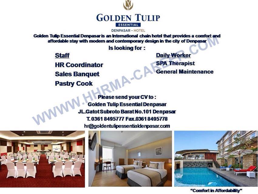 Lowongan Spa Therapist Golden Tulip Essential Denpasar