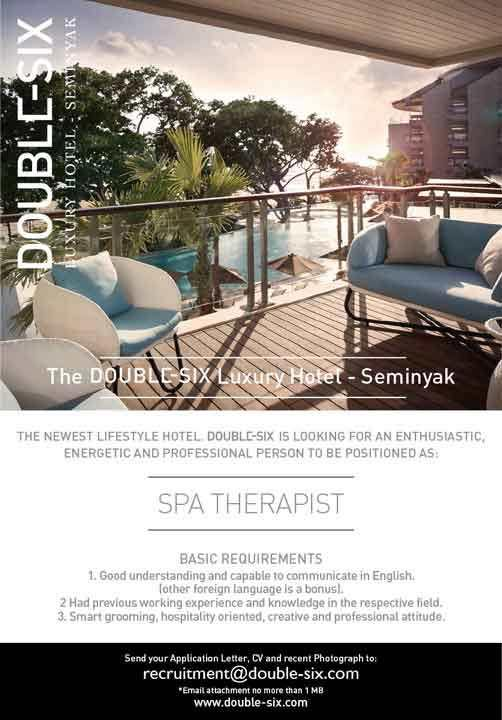 Lowongan Spa Therapist The Double Six Seminyak Luxury