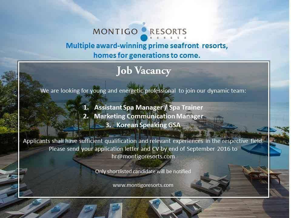 Lowongan Spa Manager Montigo Resort Seminyak dan Spa Therapist Grandmas Hotel