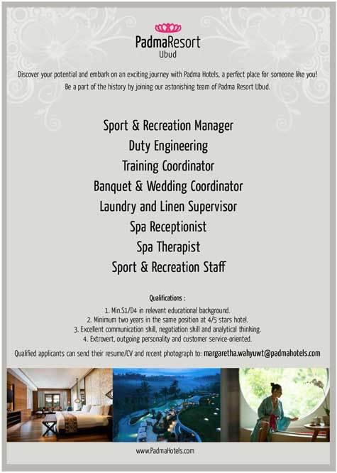 Lowongan Spa Therapist Padma Resort Ubud- Bali