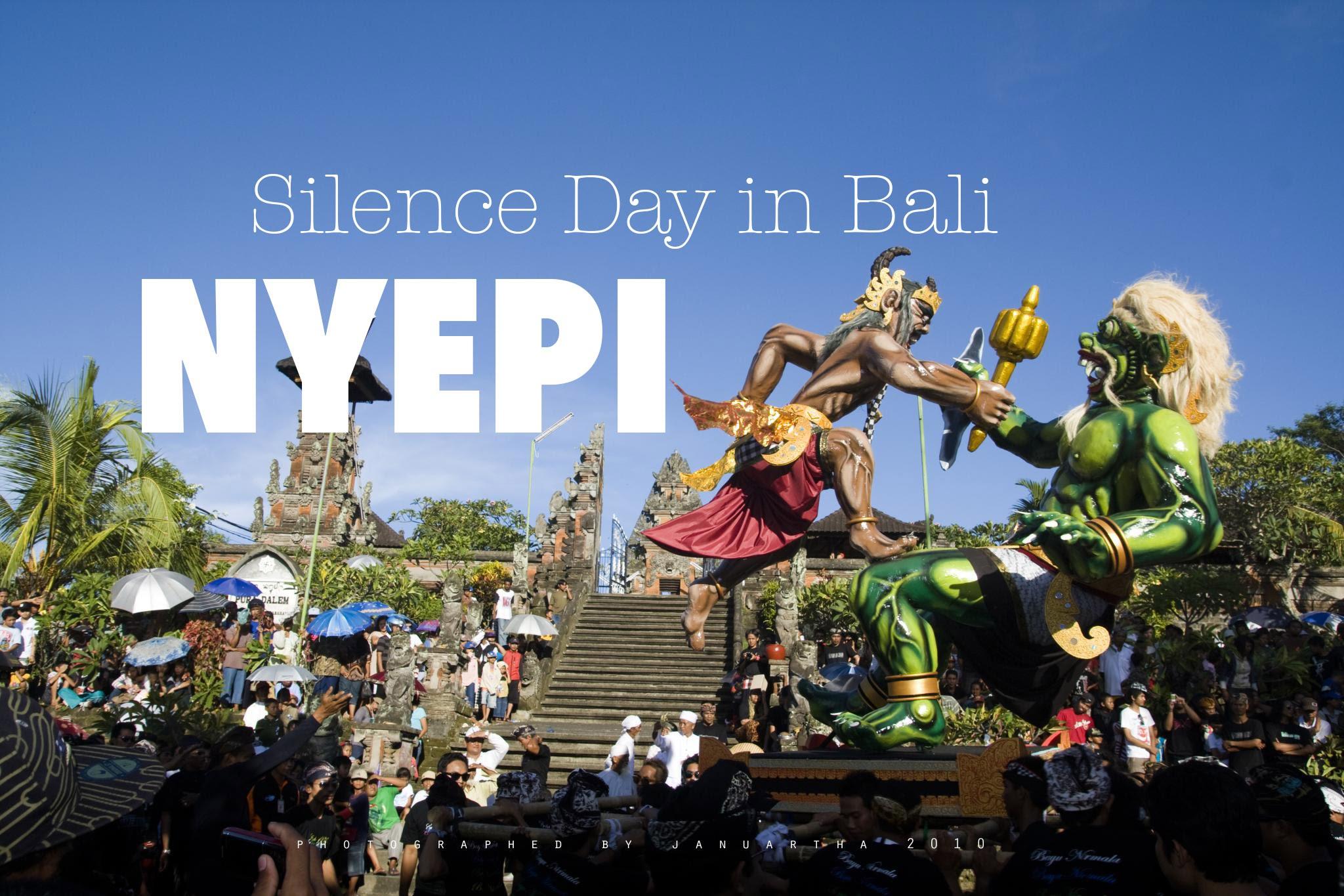 Menyambut Hari Raya Nyepi di Bali Selasa 28 Maret, 2017