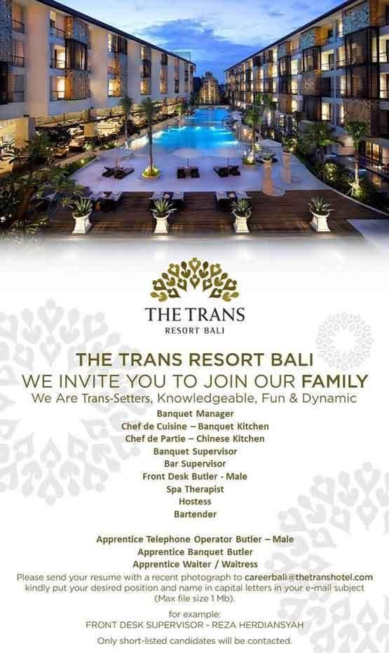 Lowongan The Trans Resort Bali Seminyak
