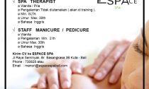 Lowongan Spa Therapist Espace Spa Seminyak