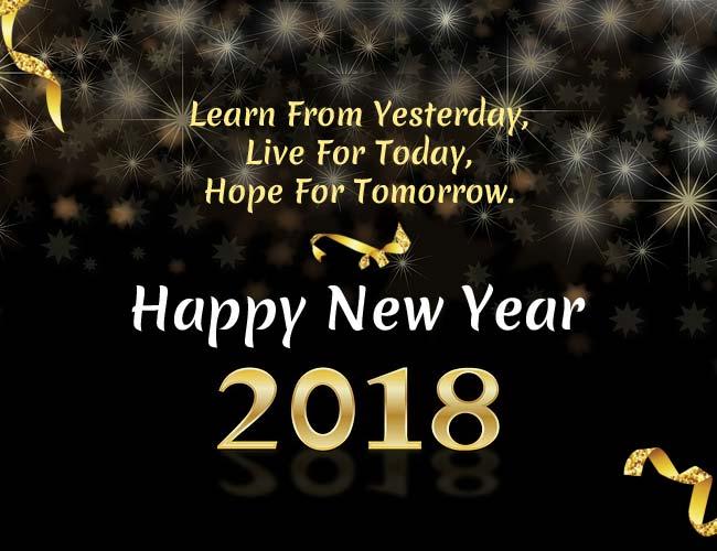 Selamat Menyambut Tahun Baru 2018 - Wujudkan Cita Dan Harapan Yang Tertunda