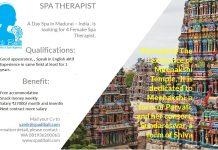 Lowongan Spa Therapist Wanita Madurai - India