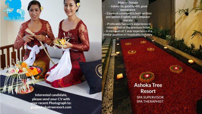 Lowongan Spa Therapist & Spa Supervisor Ashoka Tree Resort - Ubud