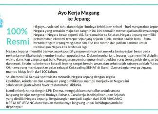 Informasi Lowongan / Job Magang Kerja Ke Jepang