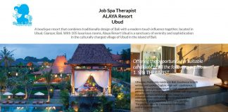 Lowongan Job Spa Therapist ALAYA Resort Ubud
