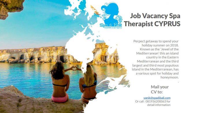 Lowongan / Job Vacancy Spa Therapist Negara Mediteranian Timur - CYPRUS