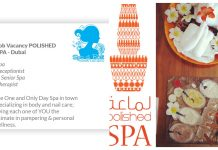 Lowongan / Job Vacancy Senior Spa Therapist & Spa Receptionist Middle East - Sharjah