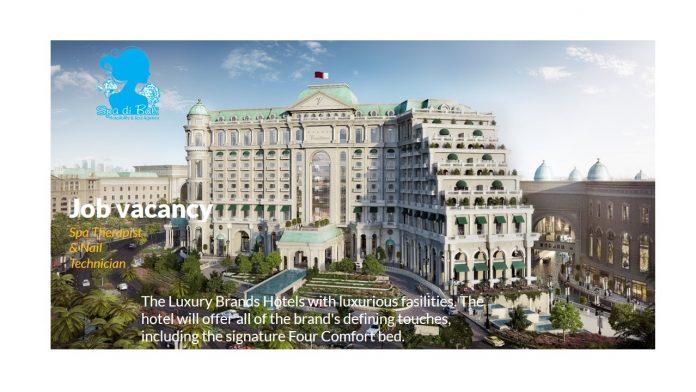 Lowongan / Job Vacancy Nail Technician Starwood Hotel Middle East - Dubai