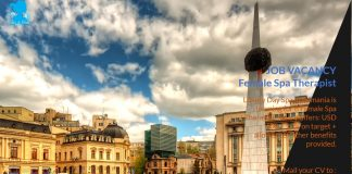 Lowongan / Job Spa Therapist Wanita Negara Eropa Tenggara - Romania