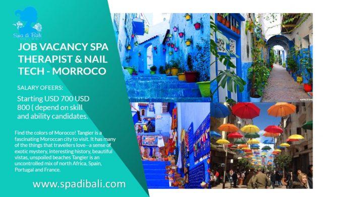 Lowongan / Job Spa Therapist & Nail Technician Negara Afrika Utara Tangier - Maroko