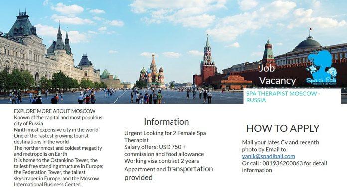 Hal Menarik Tentang Ibukota Rusia - Moscow / Lowongan Spa Therapist Wanita Luar Negeri