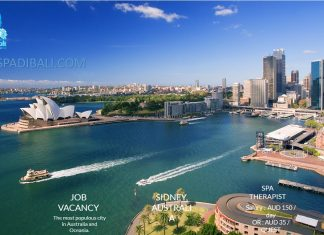 Lowongan / Job Vacancy Spa Therapist Wanita Negara Eropa Sidney - Australia