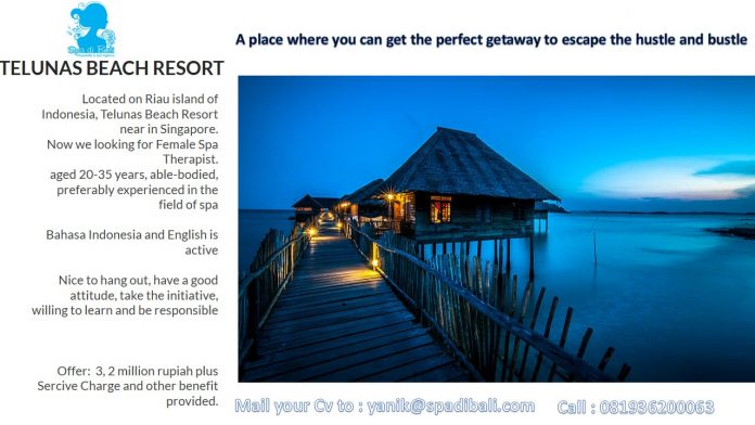 Telunas Beach Resort Riau - Batam - Loowngan Spa Therapist Dekat Singapore