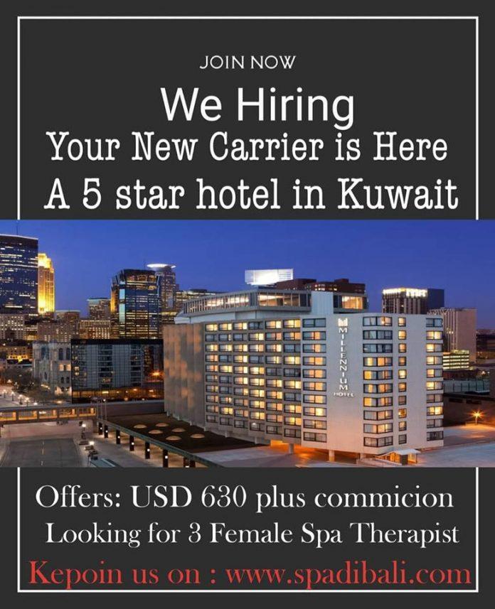 Lowongan Spa Therapist Hotel Bintang 5 Kuwait - Negara Dengan Mata Uang Tertinggi di Dunia