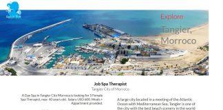 Lowongan Spa Therapist Wanita Kota Tangier - Maroko